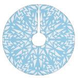 Modelo del copo de nieve de los triángulos del falda de árbol de navidad de poliéster