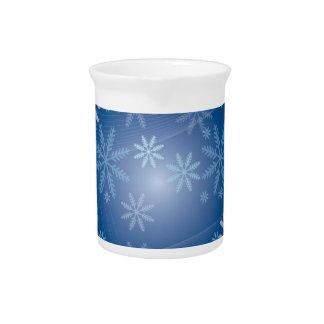 Modelo del copo de nieve del invierno jarra para bebida