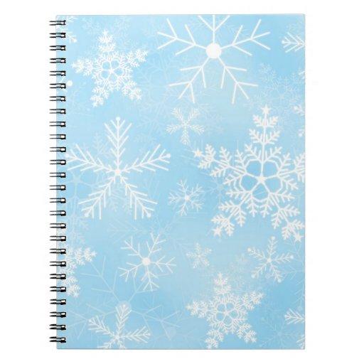 Modelo del copo de nieve del navidad libros de apuntes