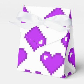 Modelo del corazón de Digitaces; Púrpura Cajas Para Regalos