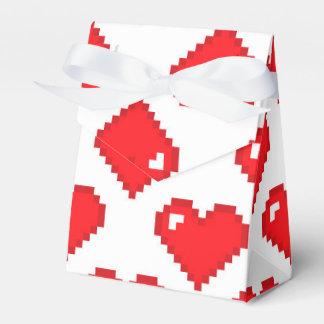 Modelo del corazón de Digitaces; Rojo Caja Para Regalos