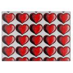 Modelo del corazón de la tarjeta del día de San Tablas Para Cortar