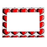 Modelo del corazón de la tarjeta del día de San Va Marcos Magnéticos Para Fotos