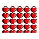 Modelo del corazón de la tarjeta del día de San Va Postal