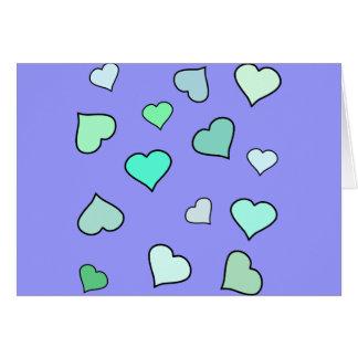 Modelo del corazón del trullo tarjetas