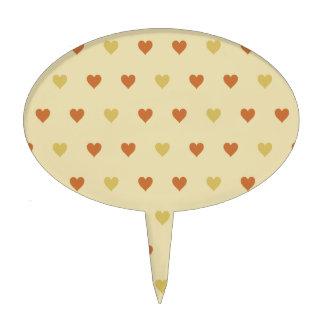 Modelo del corazón del vintage - fondo beige decoración de tarta