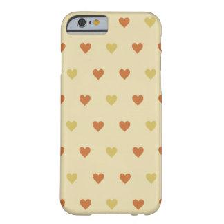 Modelo del corazón del vintage - fondo beige funda de iPhone 6 barely there