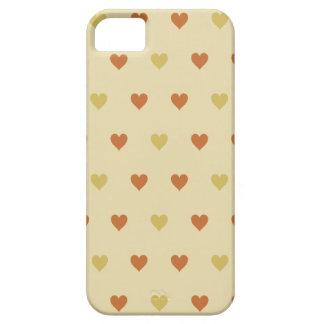 Modelo del corazón del vintage - fondo beige iPhone 5 protectores