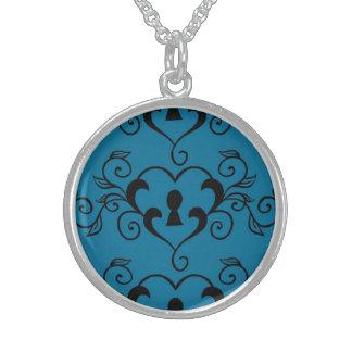 Modelo del corazón en azul collar personalizado