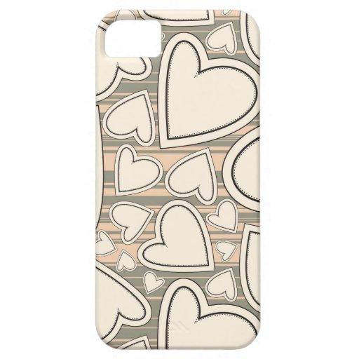 Modelo del corazón iPhone 5 Case-Mate carcasa