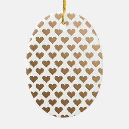 Modelo del corazón - pendiente del chocolate ornamentos de reyes