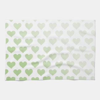 Modelo del corazón - pendiente del melón toalla