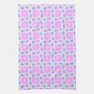 modelo del corazón púrpura personalizable toallas de mano