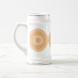 Modelo del cordón del color del moreno jarra de cerveza