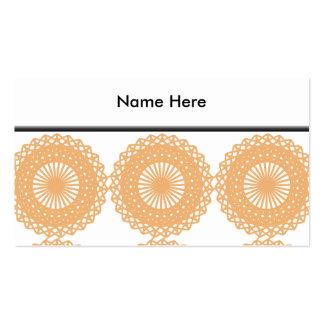 Modelo del cordón del color del moreno tarjetas de visita