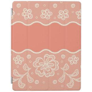 Modelo del cordón, vintage 4 de la flor cubierta de iPad