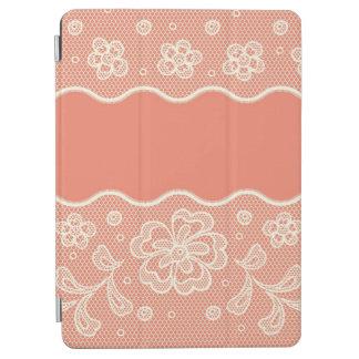 Modelo del cordón, vintage 4 de la flor cubierta de iPad air
