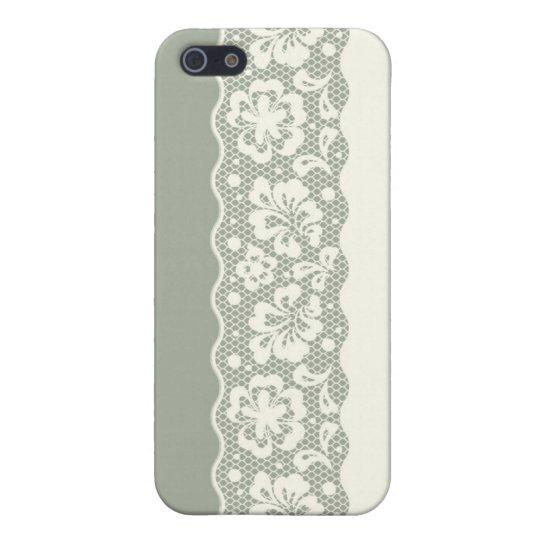 Modelo del cordón, vintage 5 de la flor iPhone 5 funda