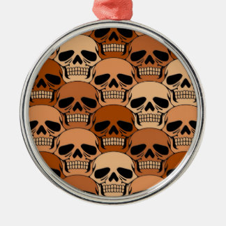 Modelo del cráneo de Brown que entrelaza Adorno Navideño Redondo De Metal