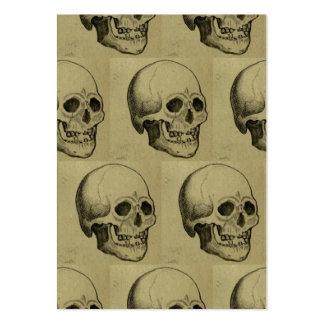Modelo del cráneo de Halloween Tarjetas De Visita Grandes