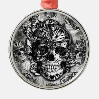Modelo del cráneo del azúcar del Grunge Ornamento De Navidad