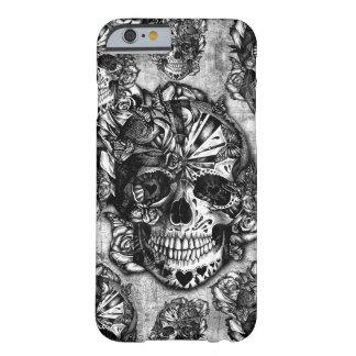 Modelo del cráneo del azúcar del Grunge Funda Barely There iPhone 6