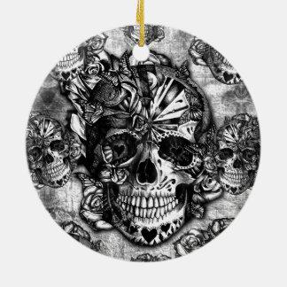 Modelo del cráneo del azúcar del Grunge Ornato
