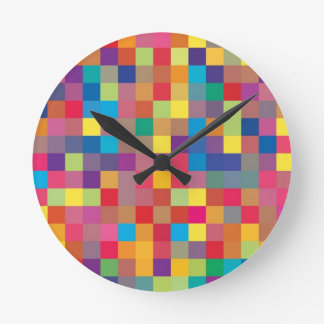 Modelo del cuadrado del arco iris del pixel reloj