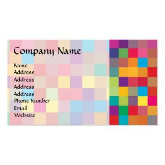 Modelo del cuadrado del arco iris del pixel plantillas de tarjetas de visita