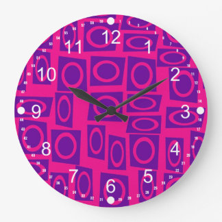 Modelo del cuadrado del círculo de la diversión de reloj redondo grande