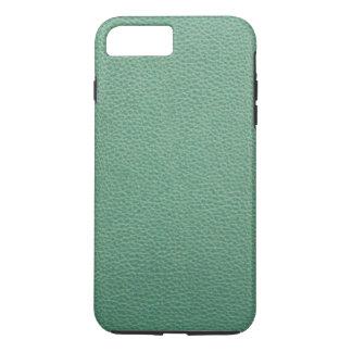 Modelo del cuero del verde del Grunge del vintage Funda iPhone 7 Plus