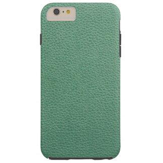 Modelo del cuero del verde del Grunge del vintage Funda Para iPhone 6 Plus Tough