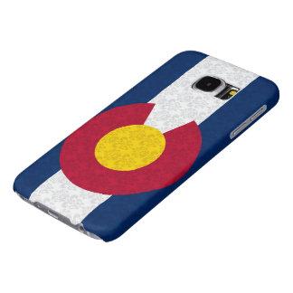 Modelo del damasco de la bandera de Colorado Fundas Samsung Galaxy S6