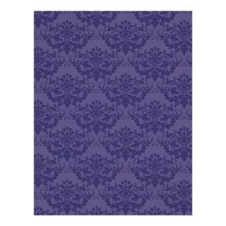 Modelo del damasco de la púrpura real plantillas de membrete