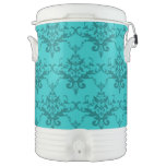Modelo del damasco de la turquesa enfriador de bebida igloo