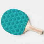 Modelo del damasco de la turquesa pala de tenis de mesa