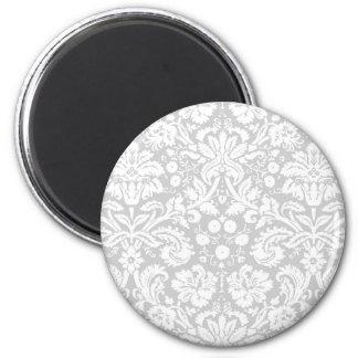 Modelo del damasco de los gris plateados imanes para frigoríficos