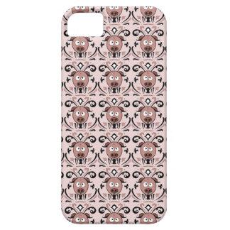 Modelo del damasco del cerdo iPhone 5 Case-Mate protector