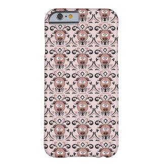 Modelo del damasco del cerdo funda para iPhone 6 barely there