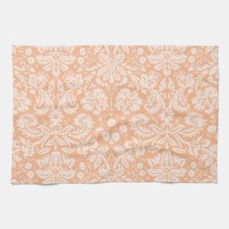 Modelo del damasco del color del albaricoque toallas de mano