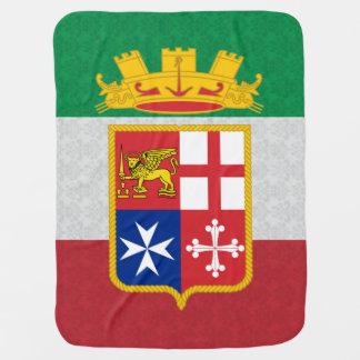 Modelo del damasco del escudo de armas de la bande mantas de bebé