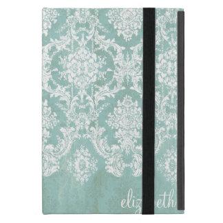 Modelo del damasco del vintage de los azules iPad mini cobertura