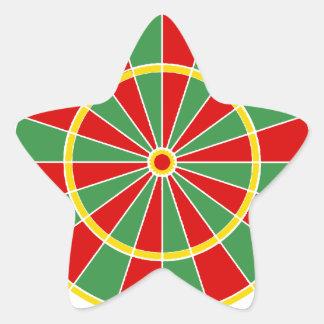 Modelo del Dartboard de Rasta Pegatina En Forma De Estrella