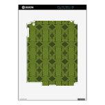 modelo del deco del verde verde oliva calcomanías para iPad 2
