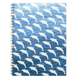 Modelo del delfín libretas espirales