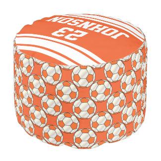 Modelo del deporte del naranja y del blanco del puf redondo