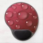 Modelo del descenso del agua roja alfombrillas de ratón con gel