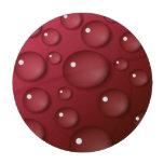 Modelo del descenso del agua roja fichas de póquer
