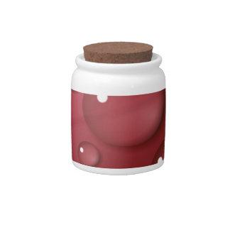 Modelo del descenso del agua roja platos para caramelos