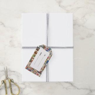 Modelo del día de fiesta de las tarjetas de etiquetas para regalos